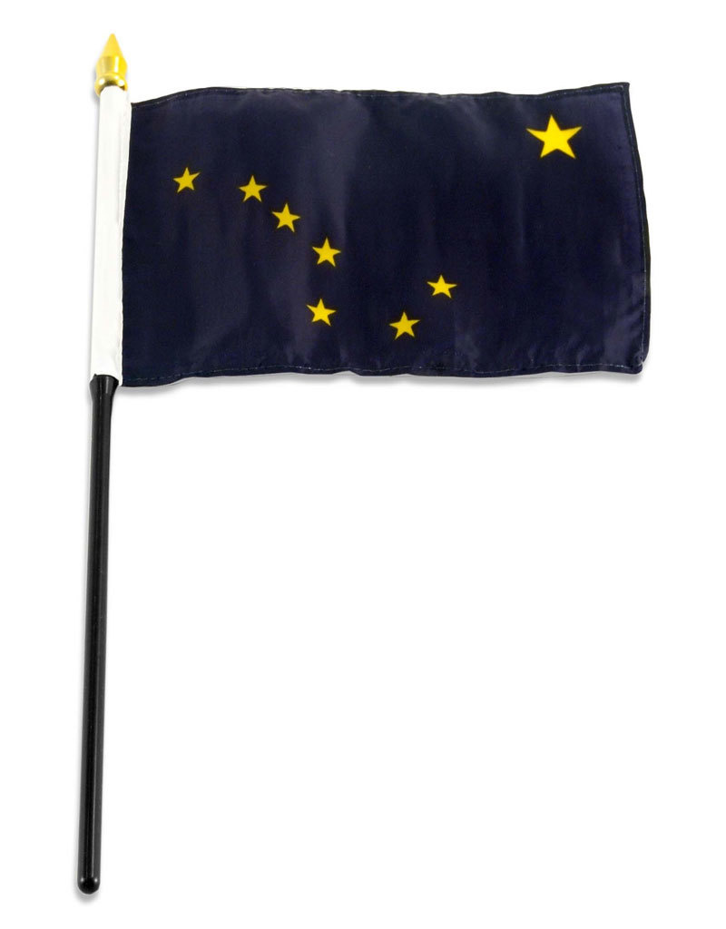 "Stick Flag 4""x6"" - Alaska"