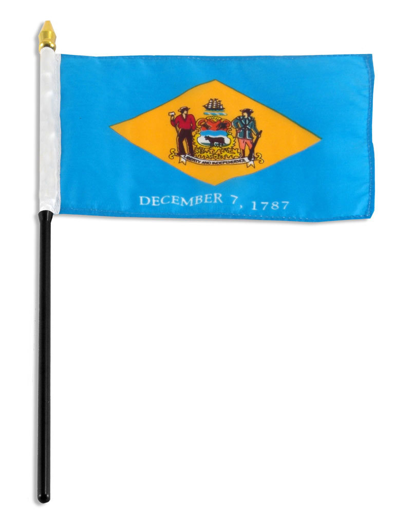 "Stick Flag 4""x6"" - Delaware"