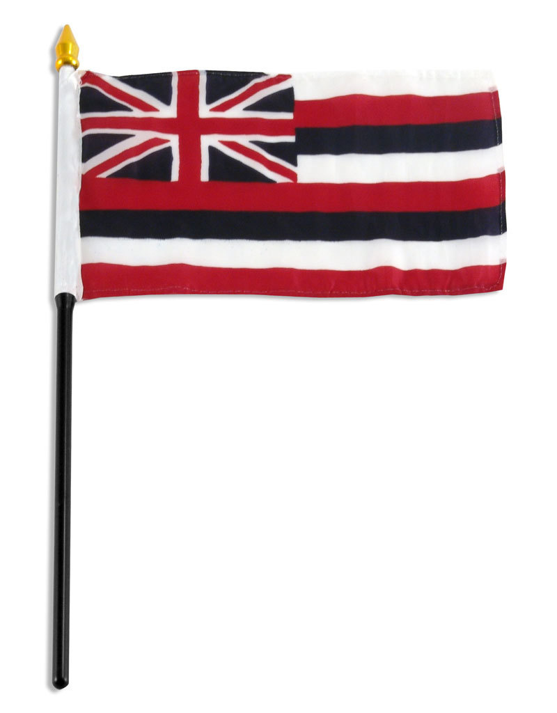 "Stick Flag 4""x6"" - Hawaii"