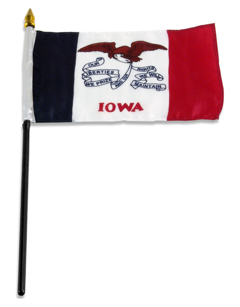 "Stick Flag 4""x6"" - Iowa"