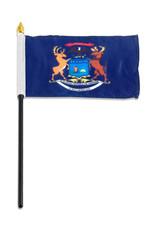 "Stick Flag 4""x6"" - Michigan"