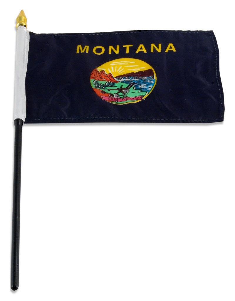 """Stick Flag 4""""x6"""" - Montana"""
