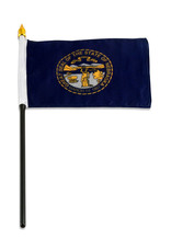 "Stick Flag 4""x6"" - Nebraska"