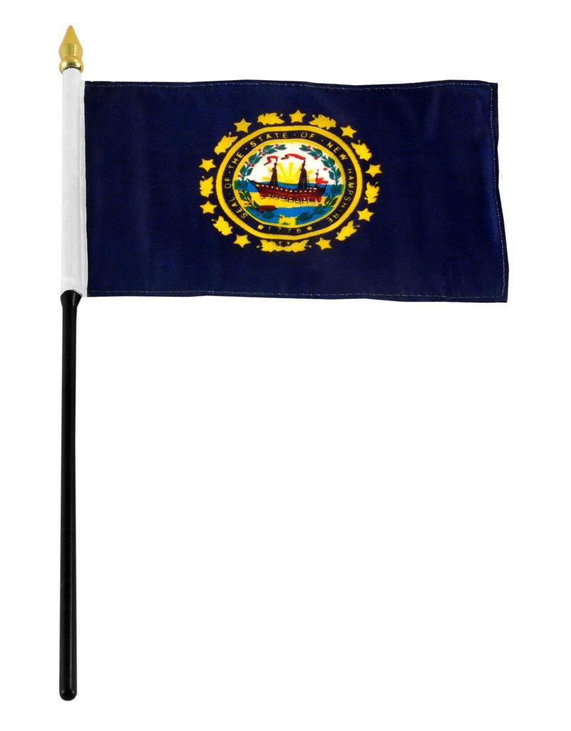 "Stick Flag 4""x6"" - New Hampshire"