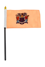 "Stick Flag 4""x6"" - New Jersey"