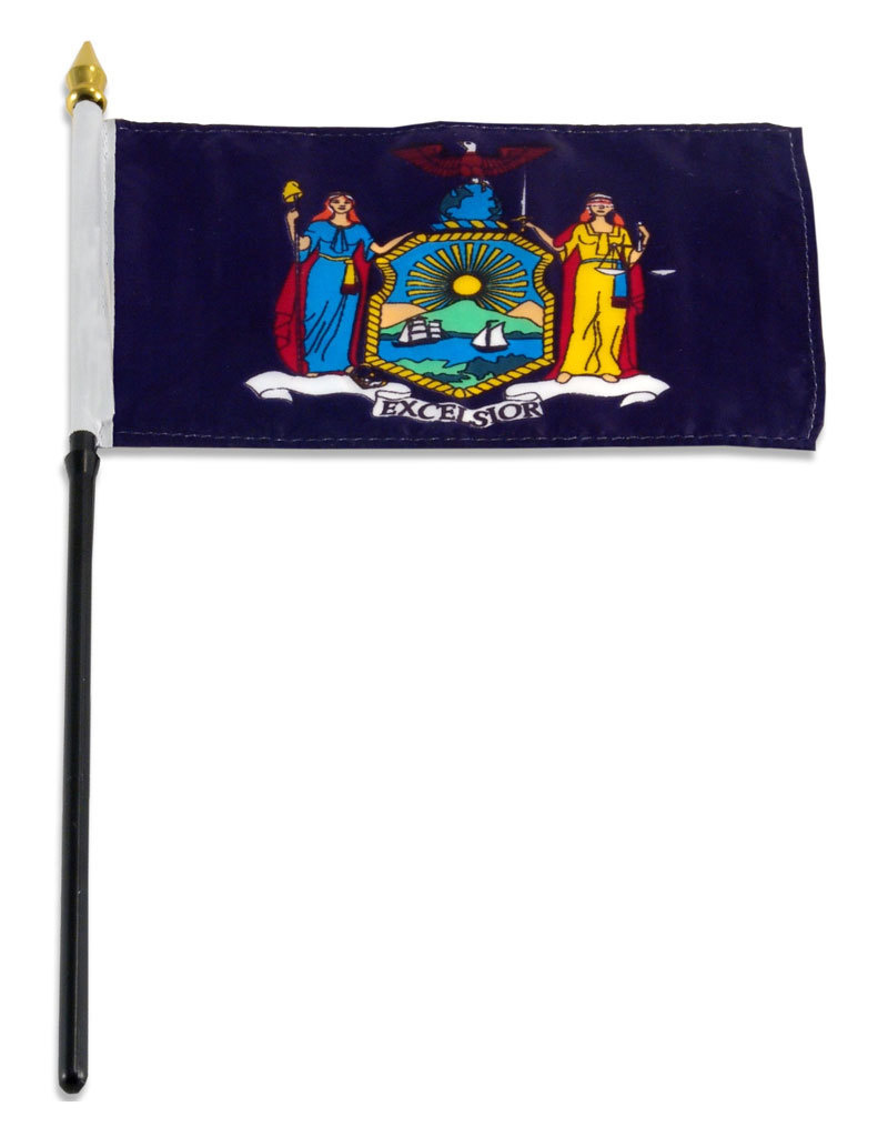 "Stick Flag 4""x6"" - New York"