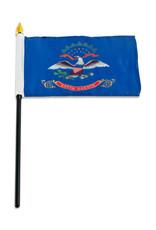 "Stick Flag 4""x6"" - North Dakota"
