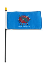 "Stick Flag 4""x6"" - Oklahoma"