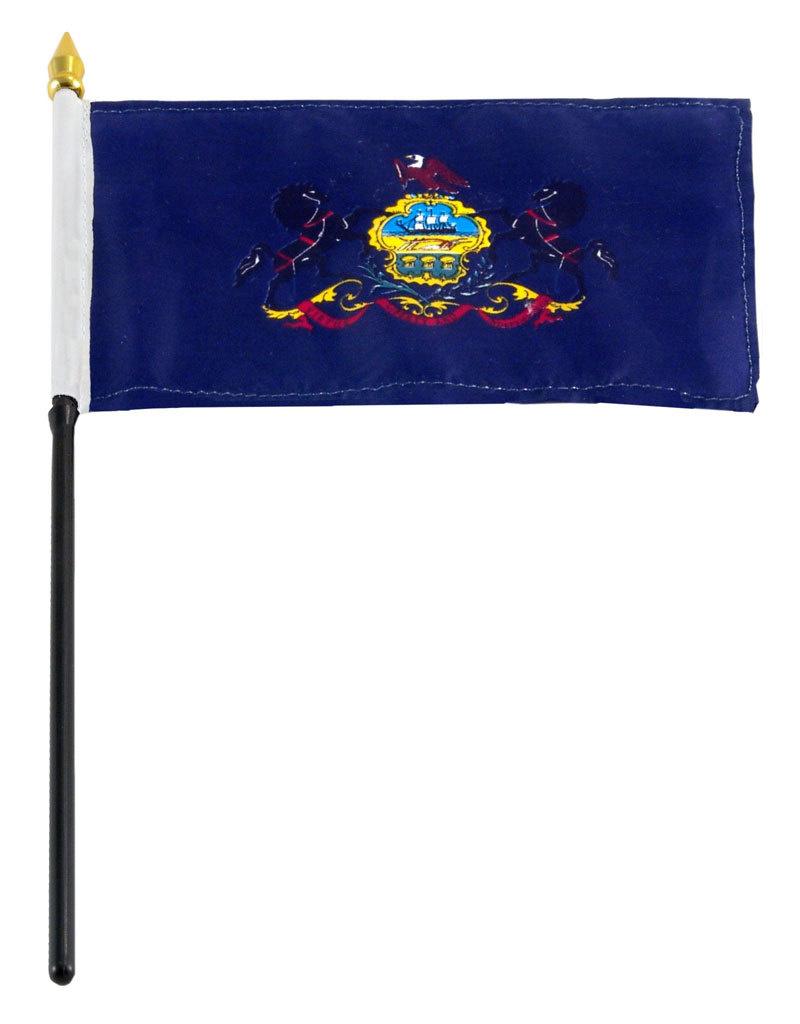 "Stick Flag 4""x6"" - Pennsylvania"