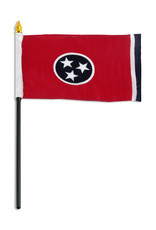 "Stick Flag 4""x6"" - Tennessee"