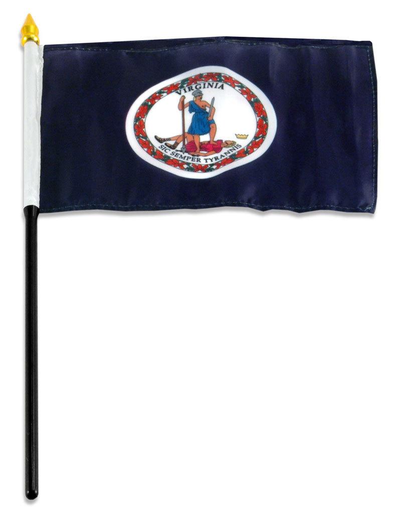 "Stick Flag 4""x6"" - Virginia"