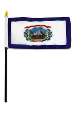 "Stick Flag 4""x6"" - West Virginia"