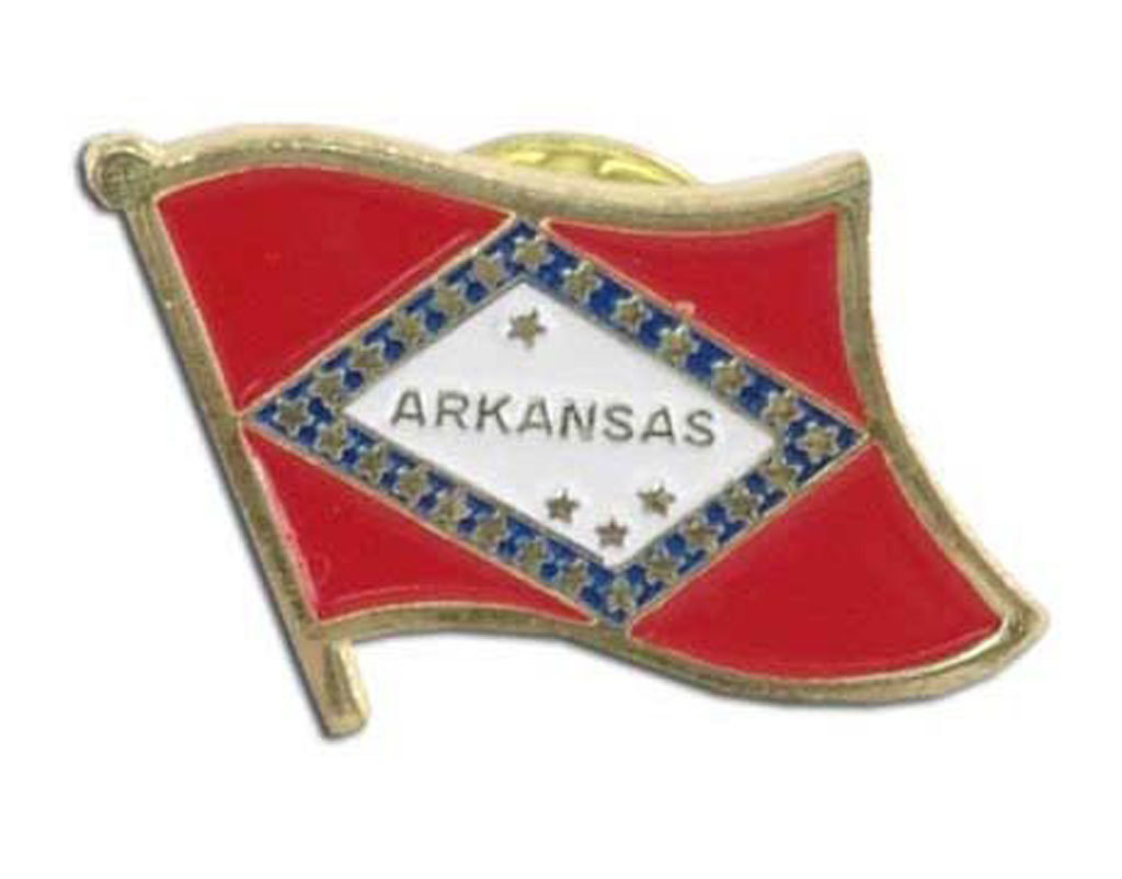 Lapel Pin - Arkansas Flag