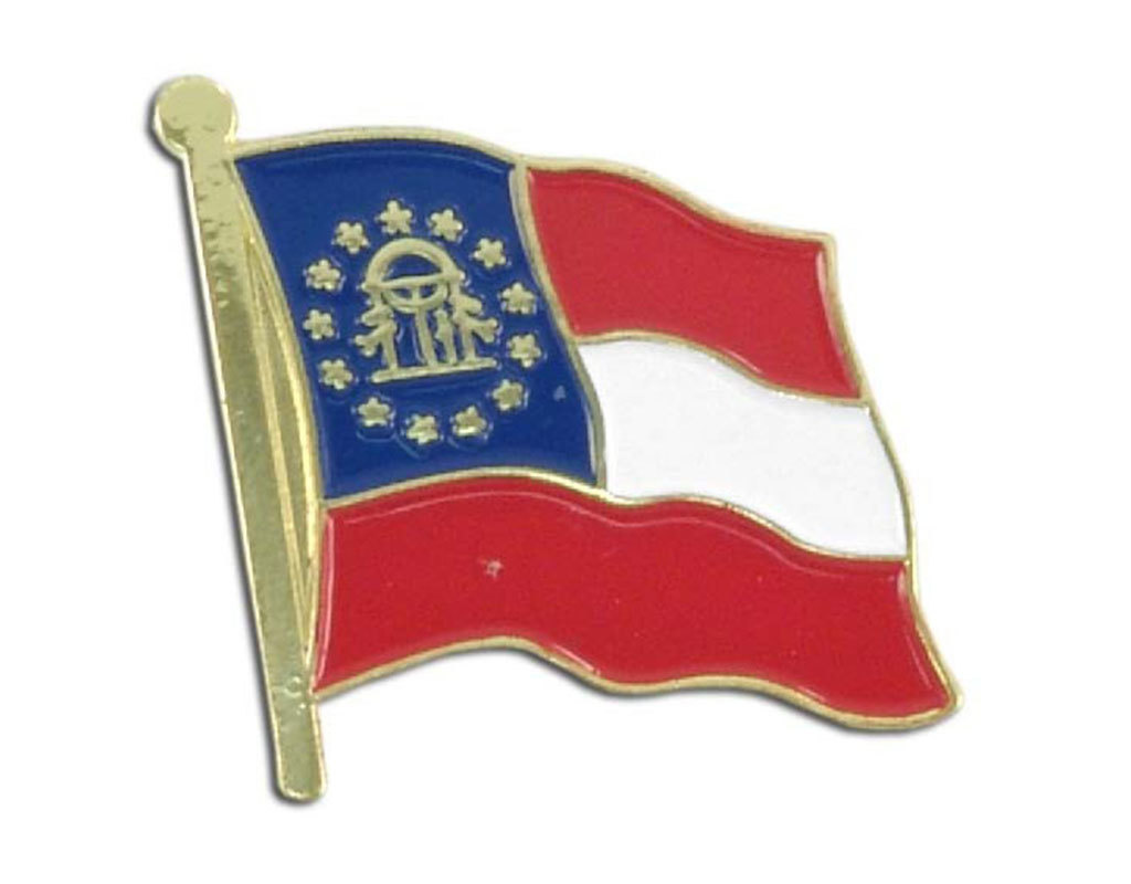 Lapel Pin - Georgia Flag