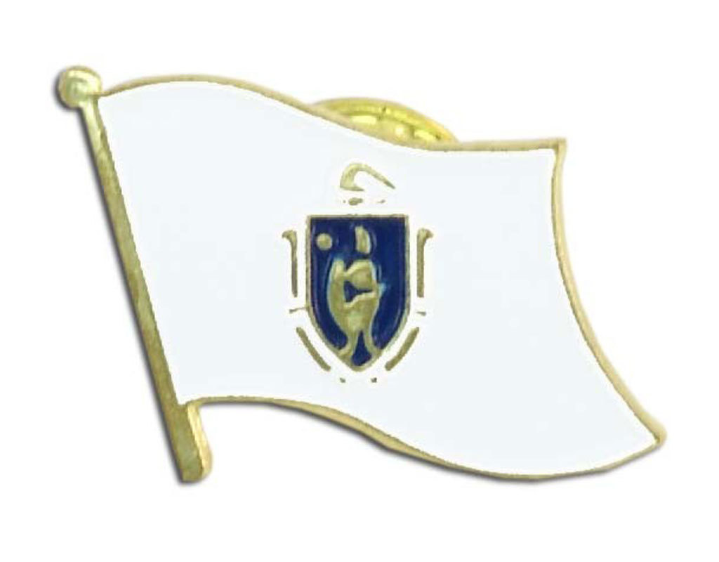 Lapel Pin - Massachusetts Flag