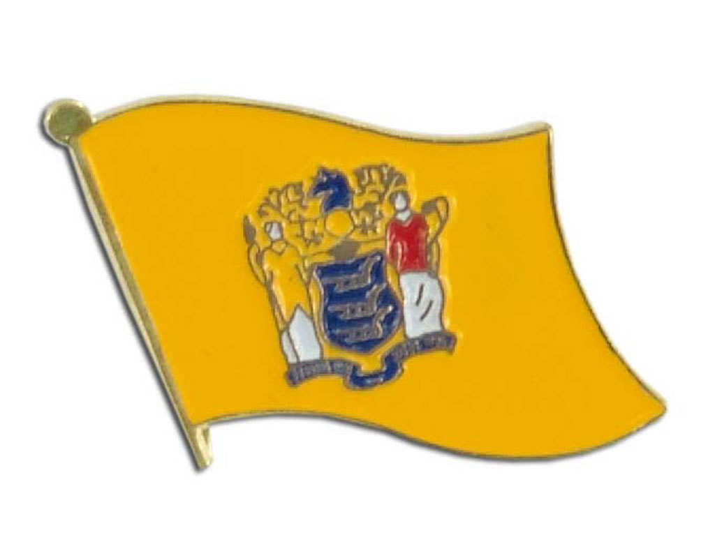 Lapel Pin - New Jersey Flag