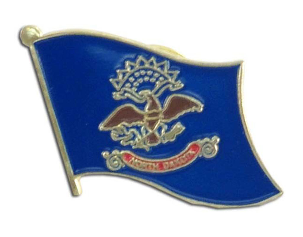 Lapel Pin - North Dakota Flag