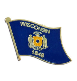 Lapel Pin - Wisconsin Flag