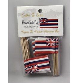 Toothpick Flags- Hawaii