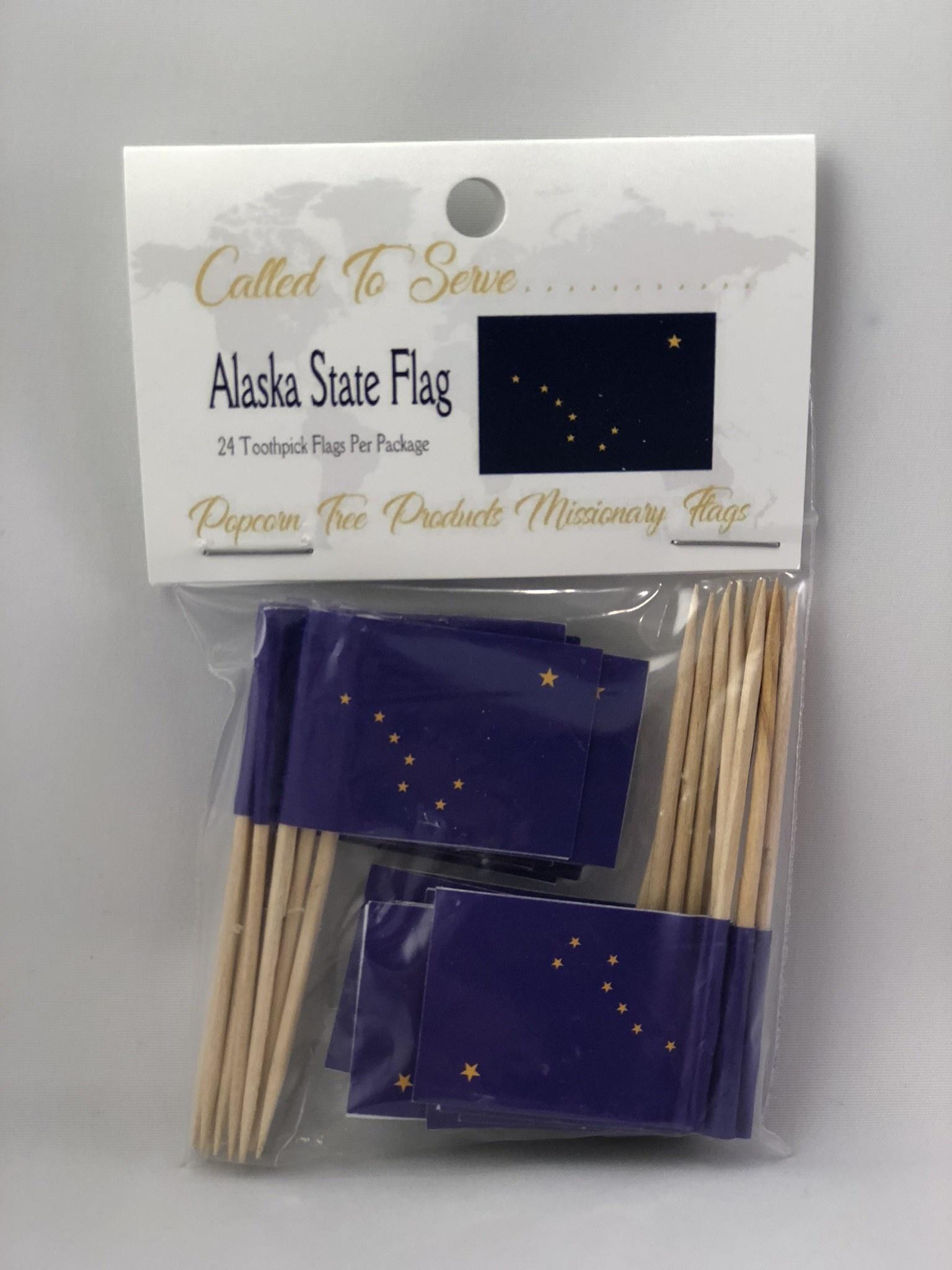 Toothpick Flags - Alaska