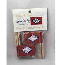 Toothpick Flags - Arkansas
