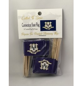 Toothpick Flags - Connecticut