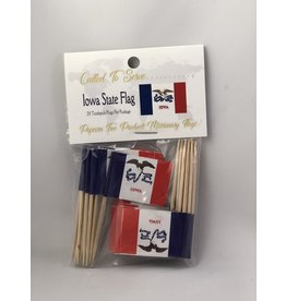 Toothpick Flags - Iowa