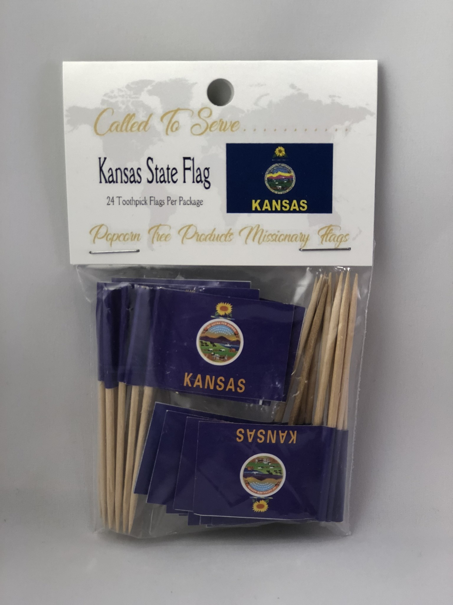 Toothpick Flags - Kansas