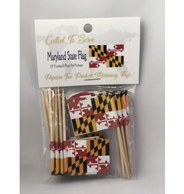 Toothpick Flags - Maryland