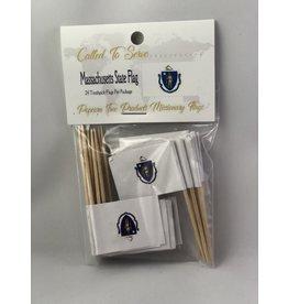Toothpick Flags - Massachusetts