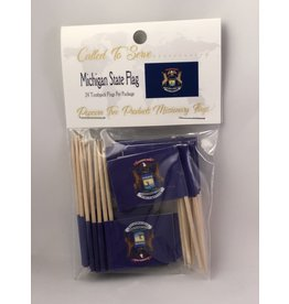 Toothpick Flags - Michigan