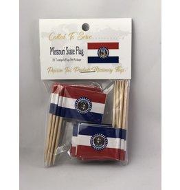 Toothpick Flags - Missouri