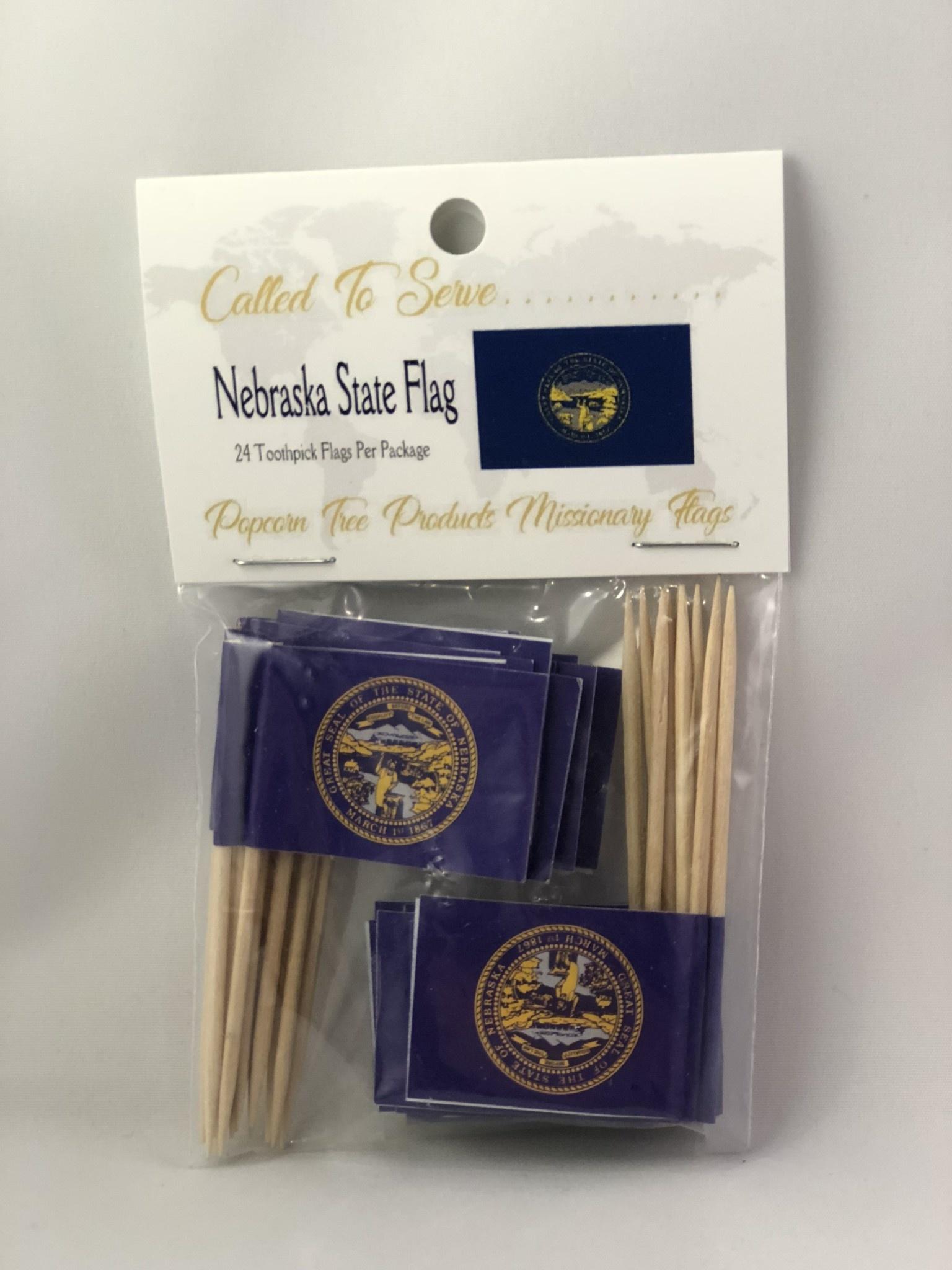 Toothpick Flags - Nebraska