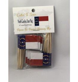 Toothpick Flags - North Carolina