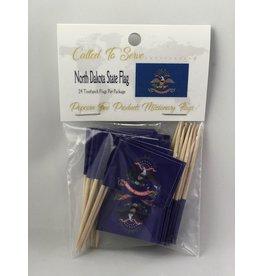 Toothpick Flags - North Dakota