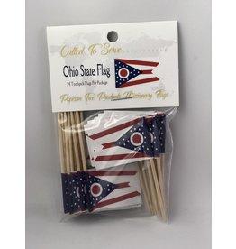 Toothpick Flags - Ohio