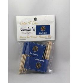 Toothpick Flags - Oklahoma