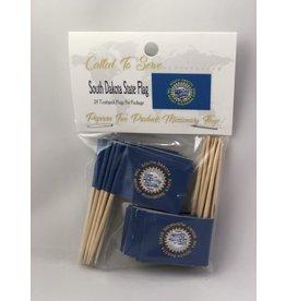 Toothpick Flags - South Dakota