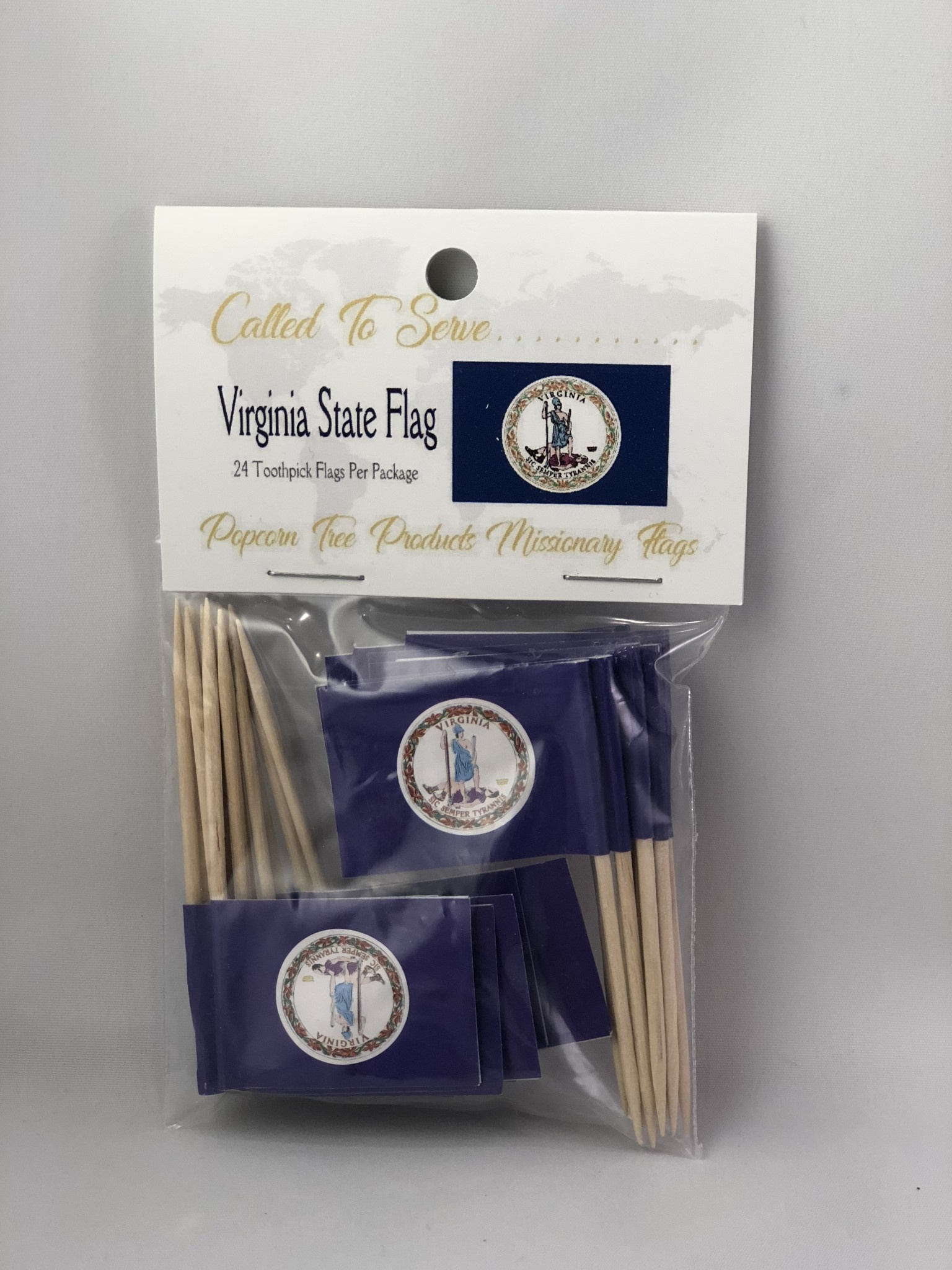 Toothpick Flags - Virginia