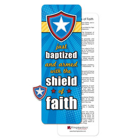 Ringmasters Pin/Bookmark - Just Baptized Shield