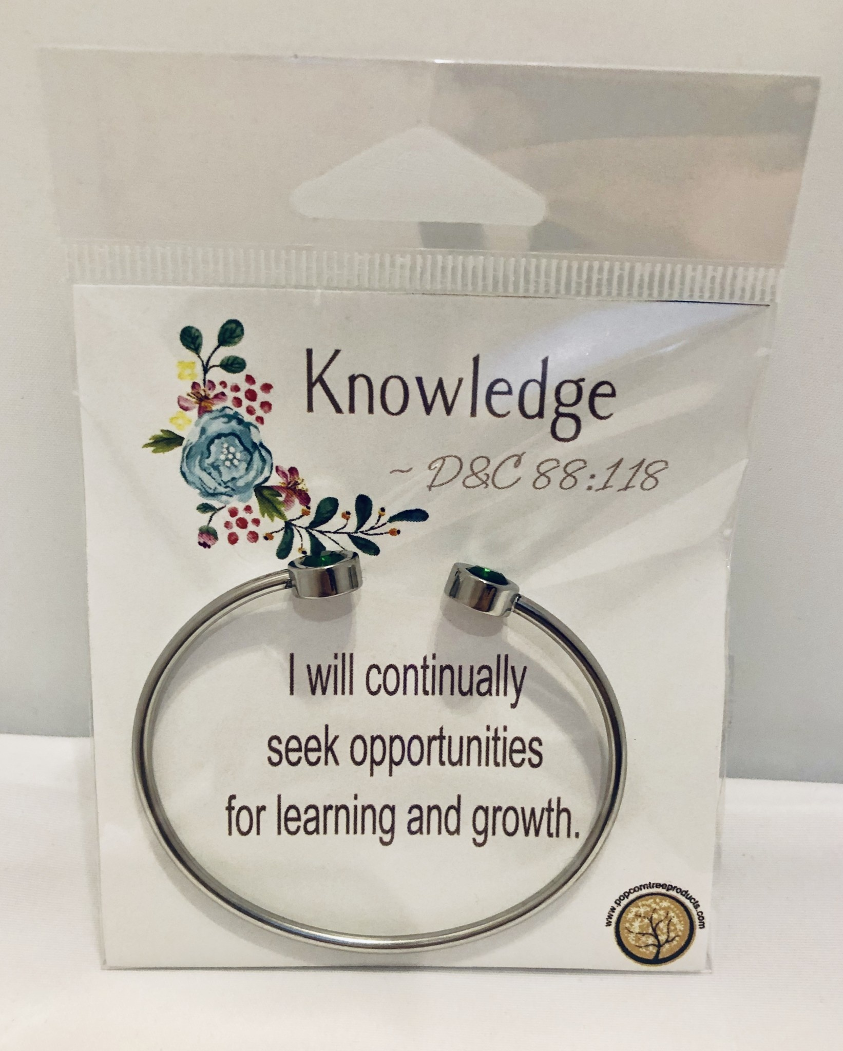 YW Value Cubic Zicornia Open Cuff Bracelet - Knowledge