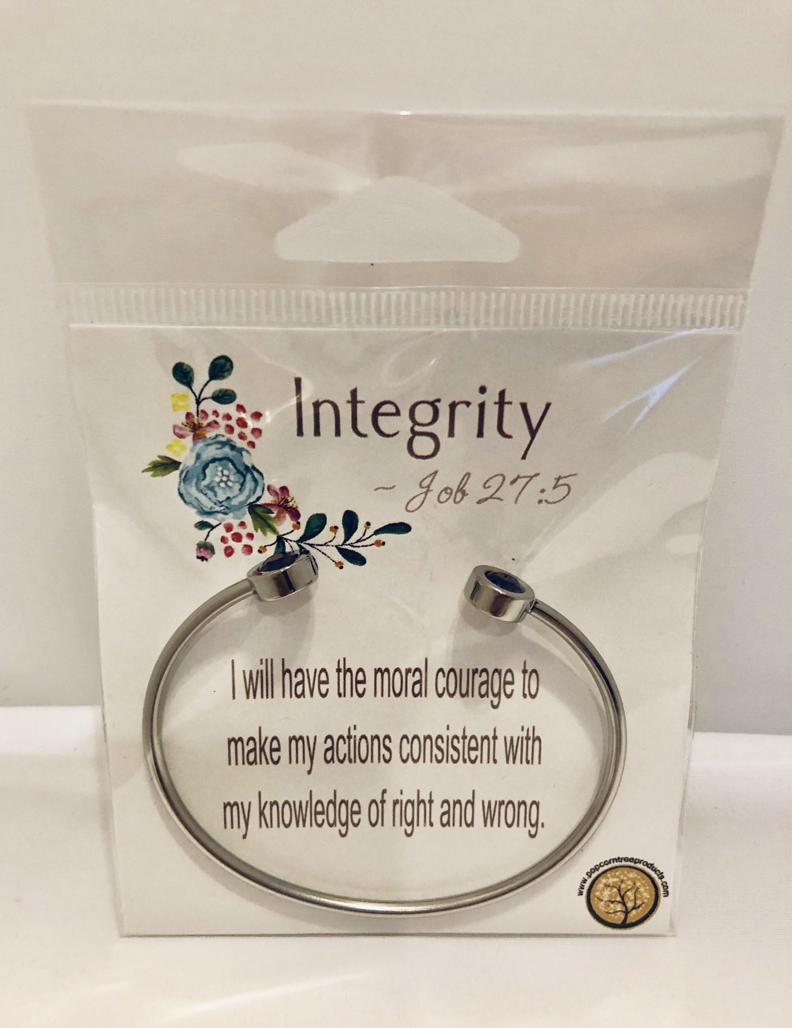 YW Value Cubic Zicornia Open Cuff Bracelet - Integrity