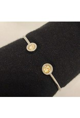 YW Value Cubic Zicornia Open Cuff Bracelet - Virtue