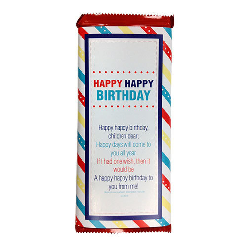 Candy Bar Wrapper - Large - Happy Birthday for Primary Children
