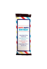 Popcorn Tree Candy Bar Wrapper - Small, Happy Birthday for LDS Primary Children