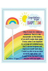 Congratulations on Your Baptism Card & Sucker