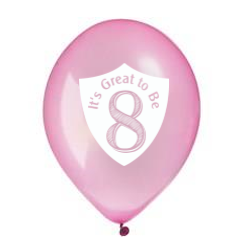 Great to Be 8 Balloon Pink Pearl