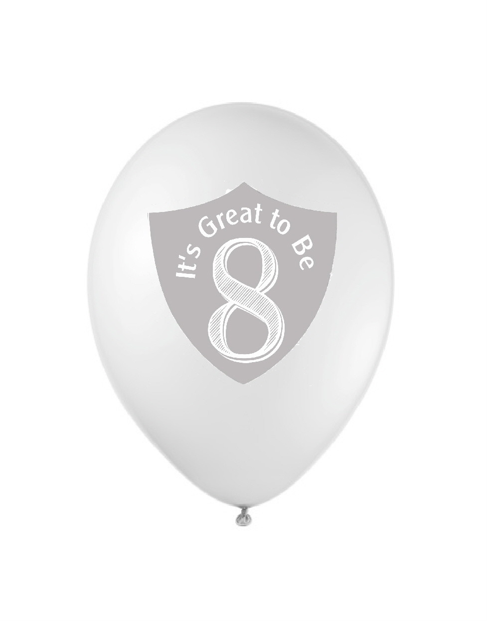 Great to Be 8 Balloon White