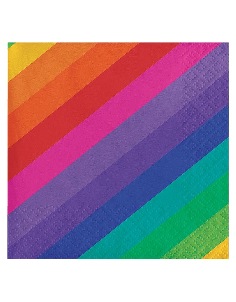 Creative Converting Rainbow - Napkins, Beverage
