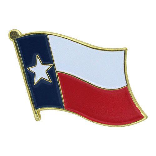 Popcorn Tree Lapel Pin - Texas Flag